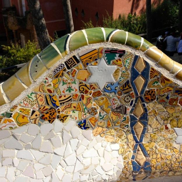 i famosissimi mosaici di Parc Güell